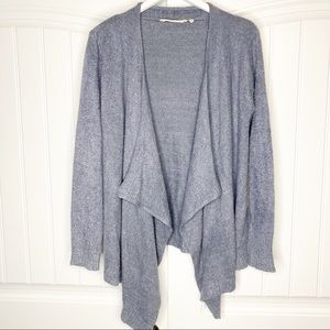 Soft Surroundings Cozy Chic Blue Cardigan Sweater